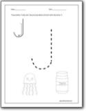 Letter J Worksheets : Alphabet J sound handwriting