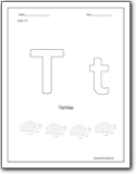 Letter T Worksheets : Teaching the letter T and the /t