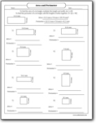Area and Perimeter of a Rectangle Worksheets