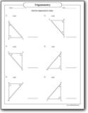 Trigonometric Ratios Segments Worksheets