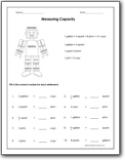 Converting Capacity Worksheets