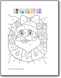 Free Christmas Coloring Page and Tracing Pages: Santa