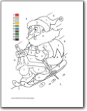 Free Christmas Coloring Page and Tracing Pages Santa