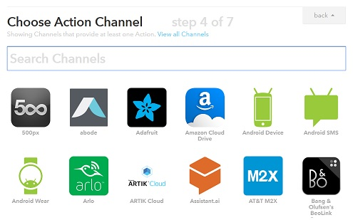 ifttt-action-channel-selection