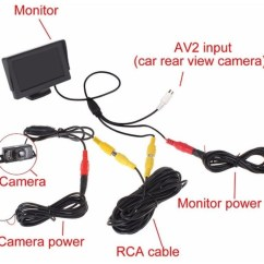 Caravan Wiring Diagram For Reversing Camera 2003 Mitsubishi Outlander Engine Brandway Achteruitrij Inclusief 4 3 Inch