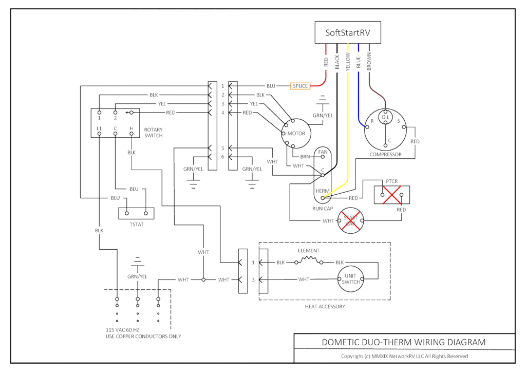 SOFTSTARTRV WIRING DIAGRAM-Dometic Duo-Therm 600 Series