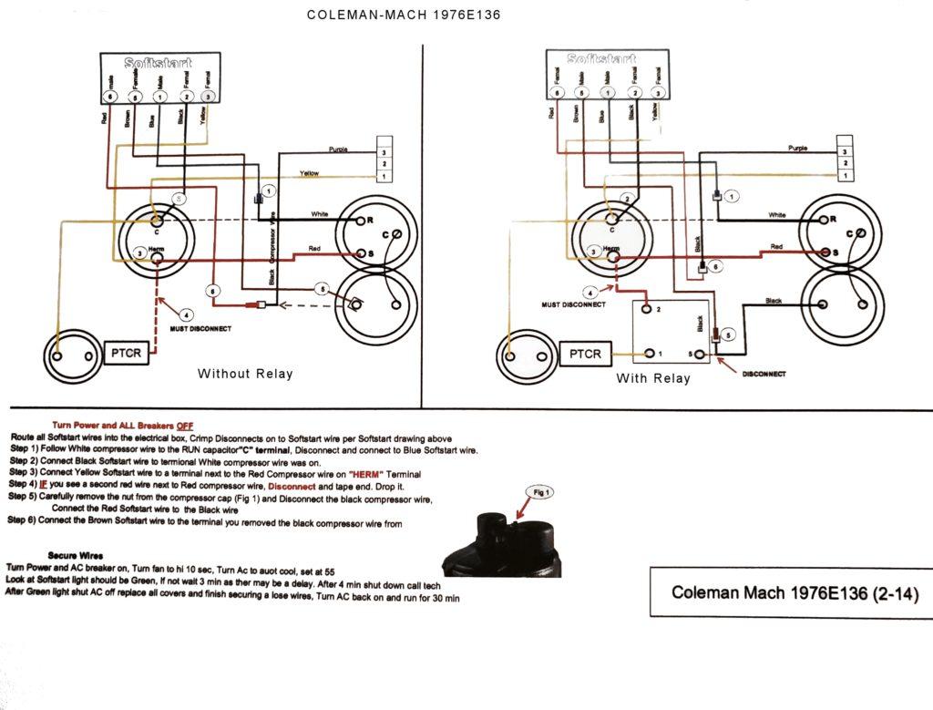 Soft Start for Coleman Mach 1976E136 air conditioner