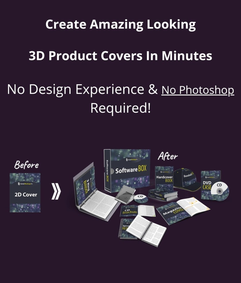 Create Amazing Looking 3D Product Covers In Minutes