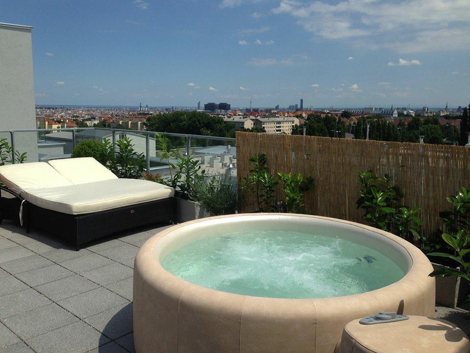 Spa sur balcon