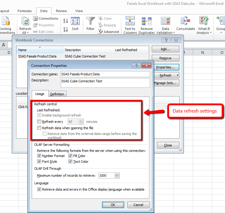Primer on Sharepoint Excel DataRefresh Settings - Softvative