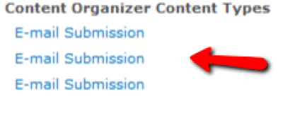 SharePoint Duplicate Site Content Types - E-mail Submission