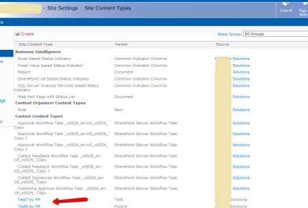 SharePoint Site Content Type created without error