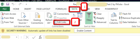 MS Excel Container File - Edit Links to Linked File