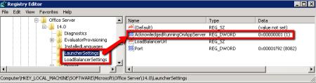 SharePoint Document Conversion Launcher Settings - AcknowledgedRunningOnAppServer Key