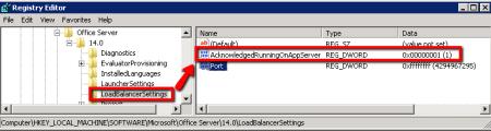SharePoint Document Conversion Load Balancer Settings - AcknowledgedRunningOnAppServer Key