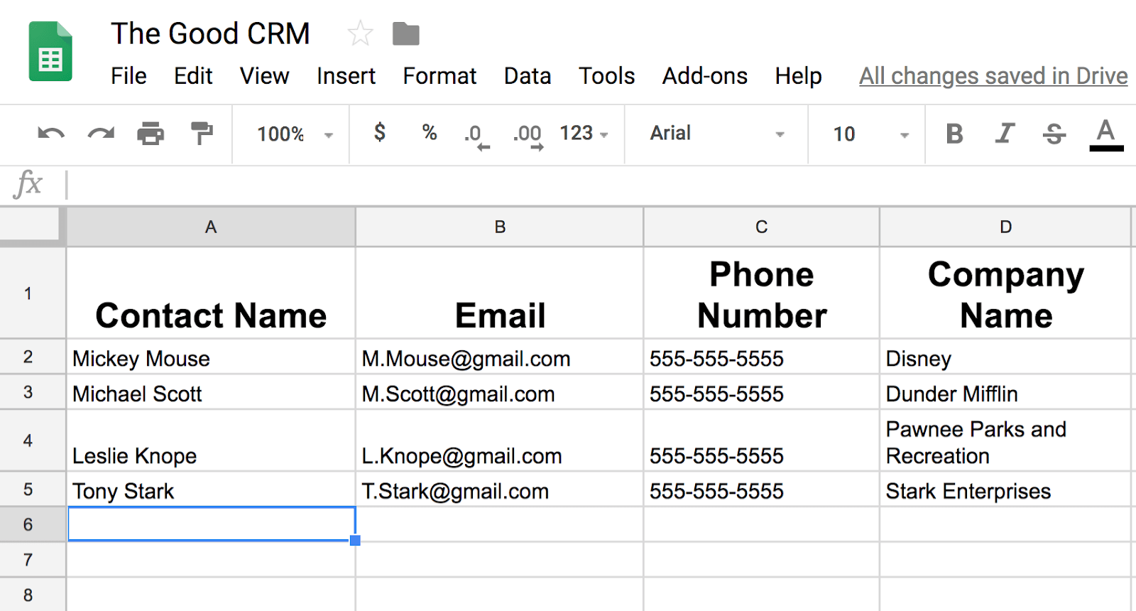 How To Use Sheets To Create Your Business First Crm