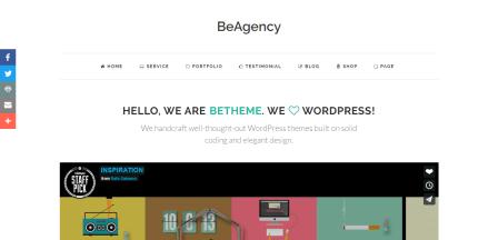 BeAgency Theme