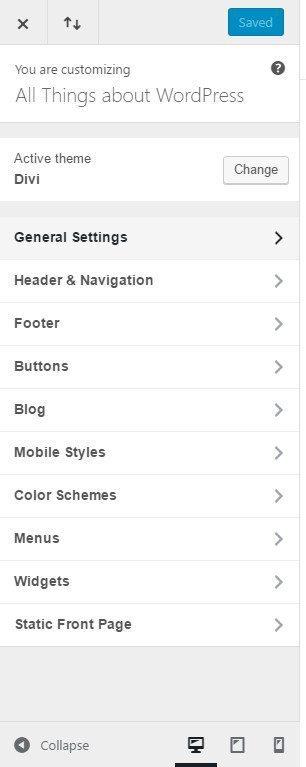 Divi Customization Options