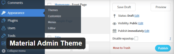 Material Admin Theme