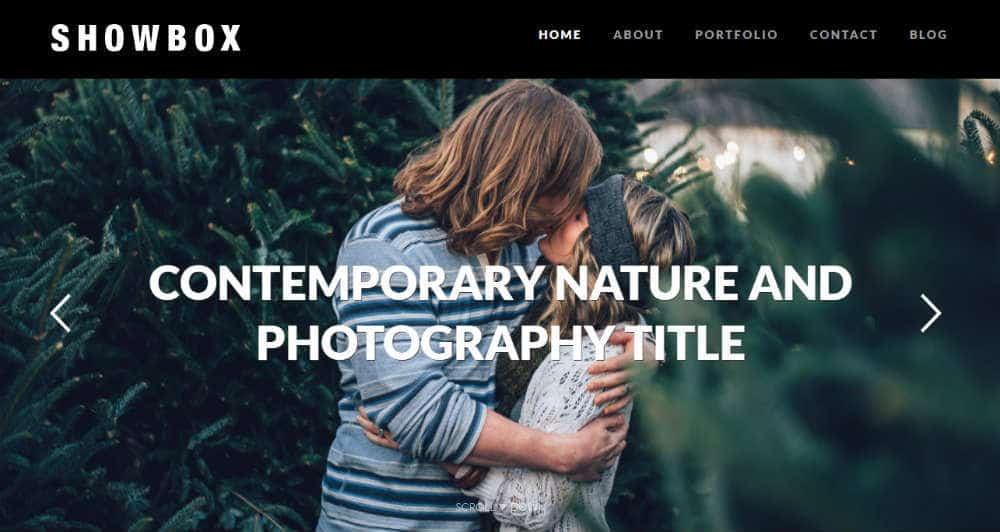 Showbox Photography Theme