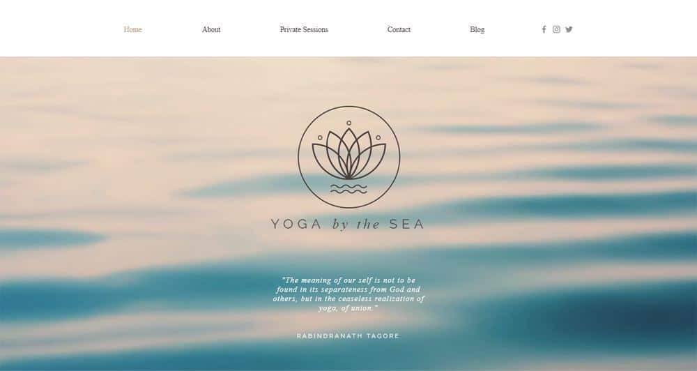 Yoga Studio Wix Template