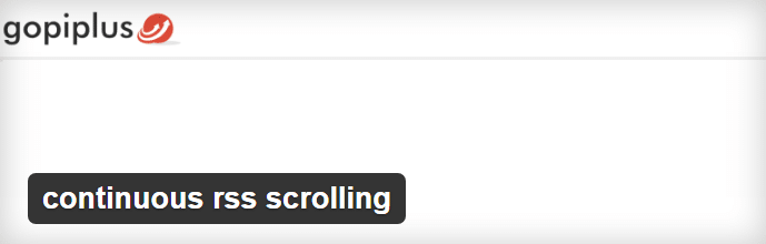 continuous RSS scrolling Plugin