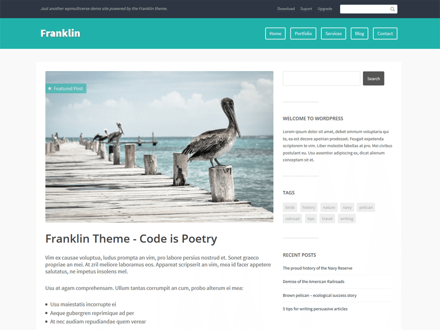 Franklin WordPress Theme