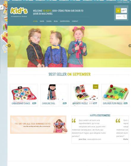 Kidshop Theme