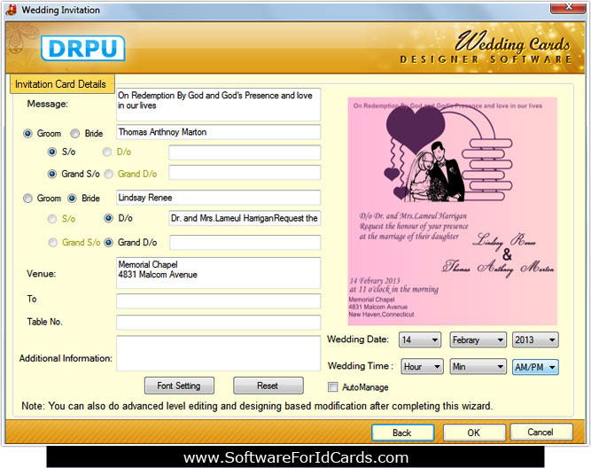 Software For Wedding Cards 8 3 0 1