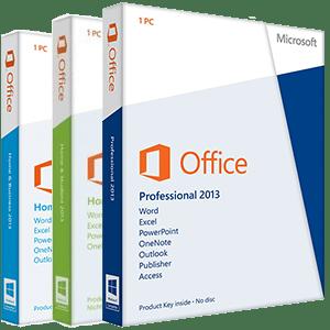 Office Pakete im Vergleich - Office 2013