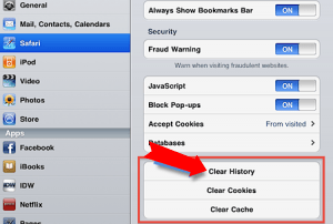 how to delete your browser history on ipad