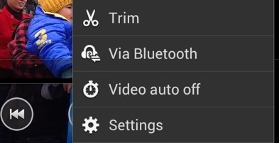Trim android recorded videos