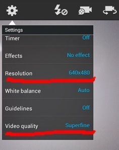record and save compressed videos on Android mobile