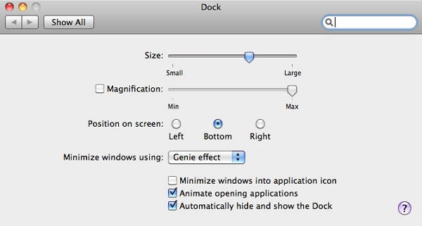 change mac dock position