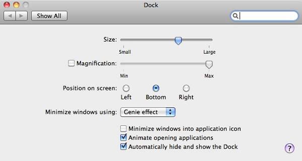 change mac dock position