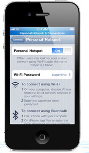 setup iphone wifi hotspot