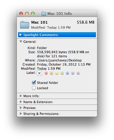 quickly share folders on Mac Mountain Lion