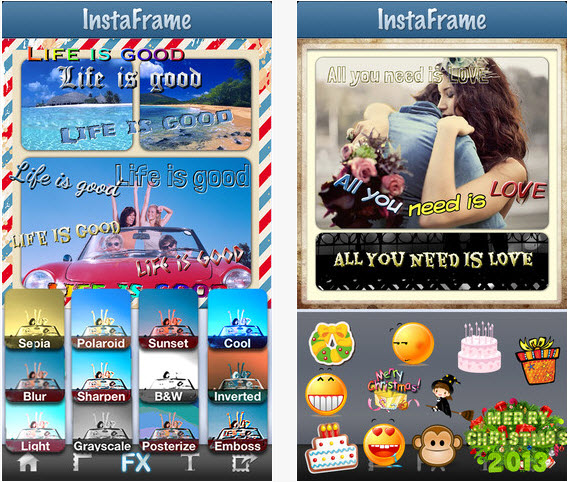 Free Photo Collage Picture Caption Editor for Instagram
