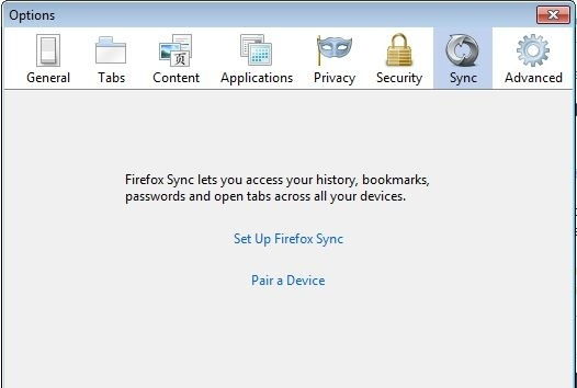 Sync Firefox across installations on multiple devices