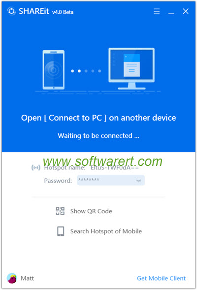 shareit for pc home screen