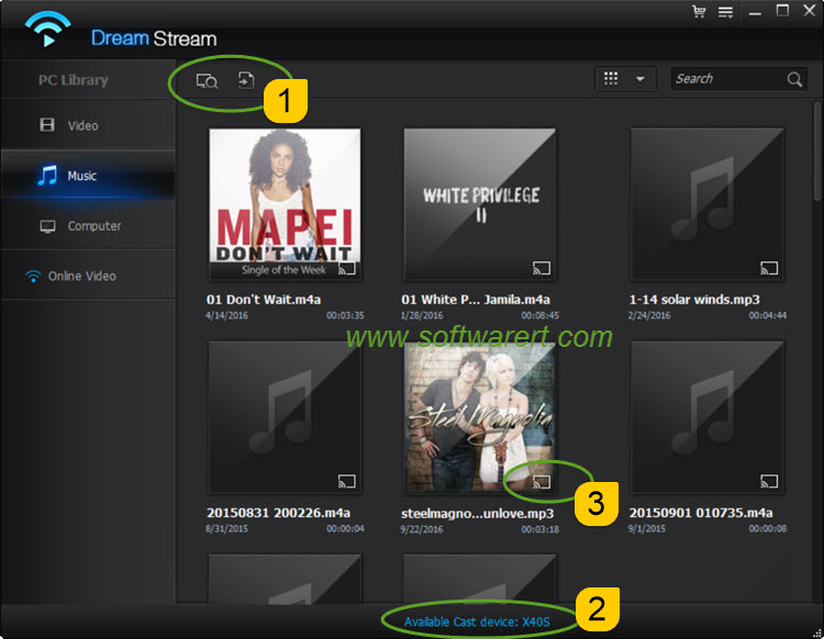cast video, movie, music from pc to tv using dreamstream