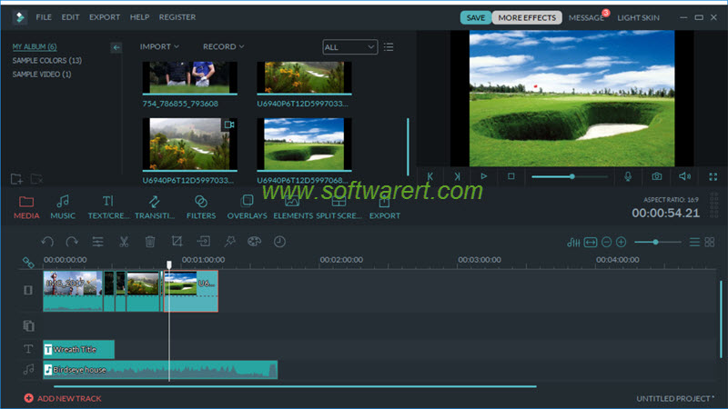 filmora video editor main interface