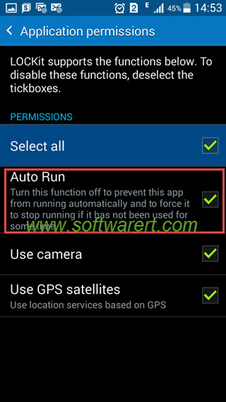 allow app auto run on samsung phone