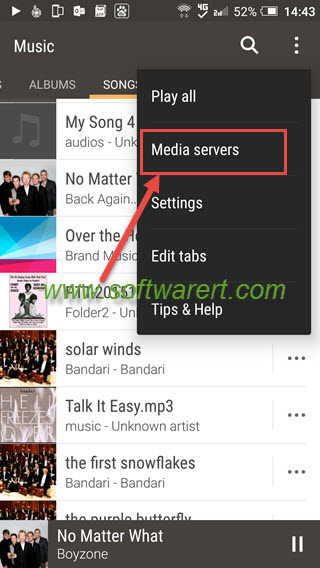 Stream music from PC to HTC mobile