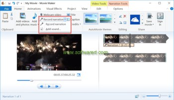 How to voice-over a video using Windows Movie Maker?