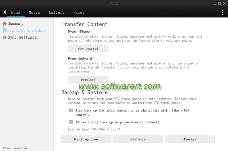 htc backup restore - htc sync manager for windows