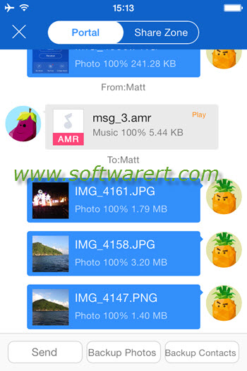shareit iphone file transfer portal