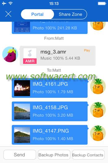 shareit iphone file transfer portal