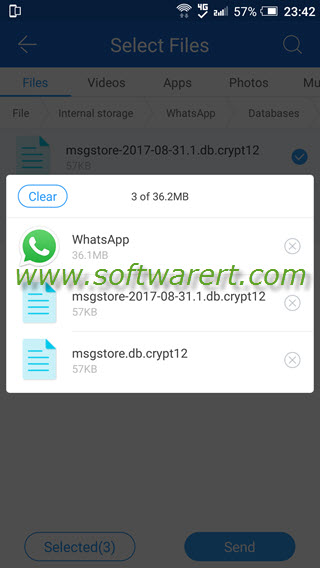 transfer whatsapp & backups between android phones using shareit