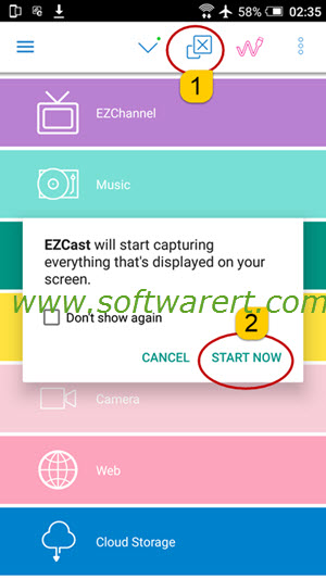 cast screen from android using ezcast